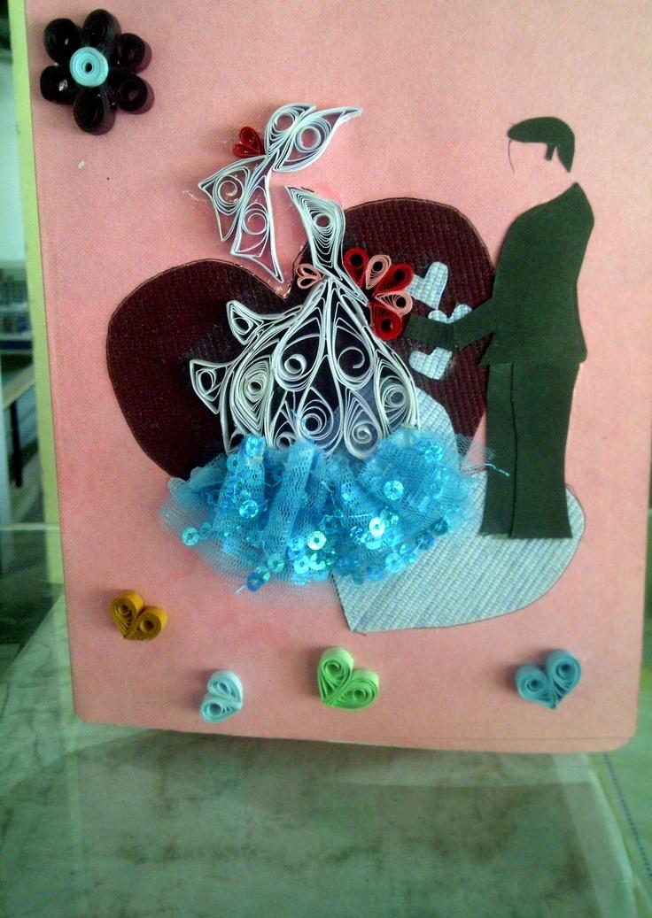 hand made anniversary card