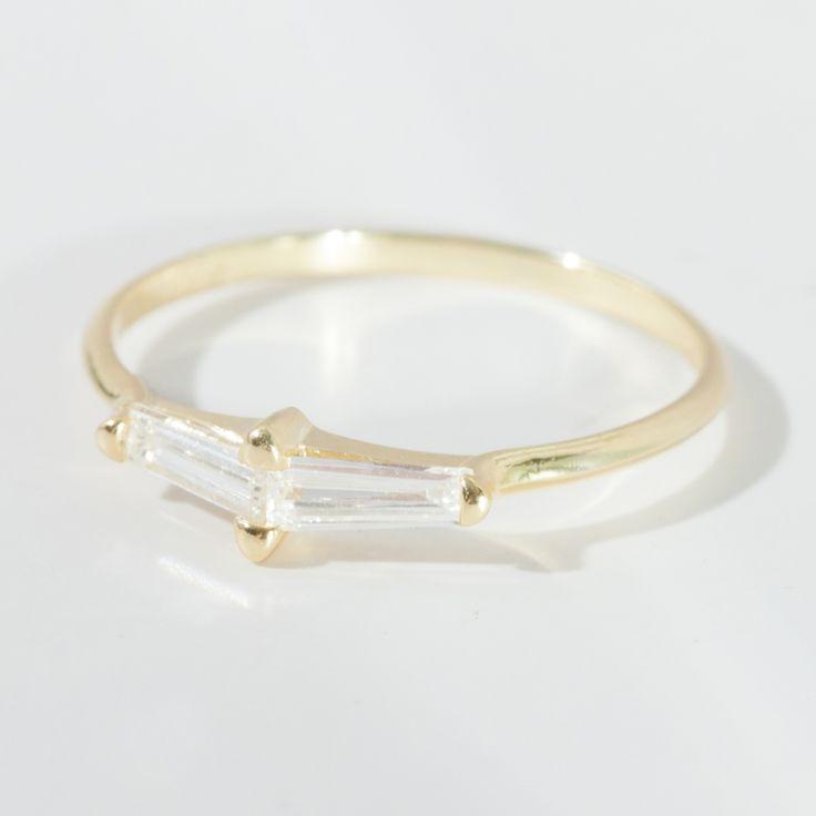 Perryn Diamond Baguette Ring, Ila