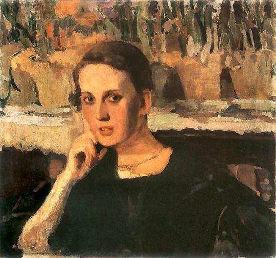 Portrait of Maryny Raczy, Witold Wojtkiewicz