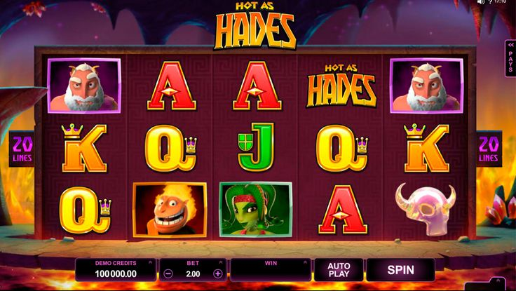 Travel to the fun version of the Underworld with Hot as Hades slot. It's a 5 reeled slot with 20 paylines provided by Microgaming team. You will find here beautiful graphics, sound effects and interesting bonus features.