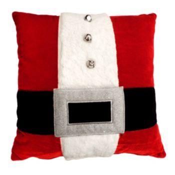 Throw Pillows Living Room : St. Nicholas Square Santa Belt Throw Pillow xmas ideas Pinterest Products, Nicholas d ...