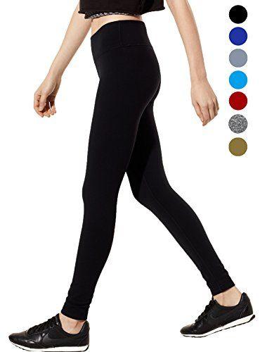 dh Garment Legging de Sport Femme Pantalon Yoga avec Poche Taille Haute  Amincissant Coton - Noir 40ec8a1a626