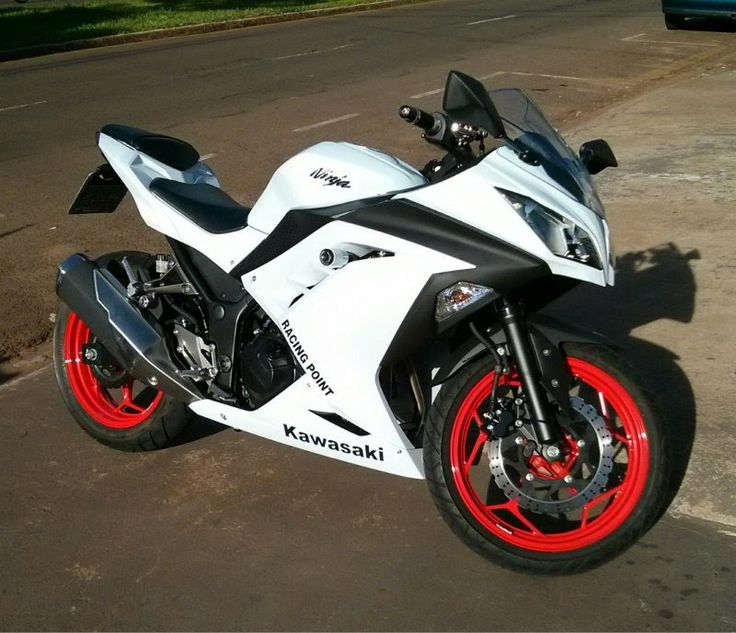 Kawasaki Ninja Red, Black, White