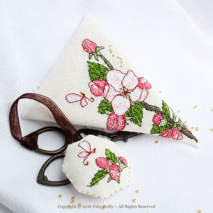 Apple Blossom Scissor Case - Faby Reilly Designs
