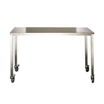 Tech Stainless Steel 110cm Outdoor Bar Table with Castors