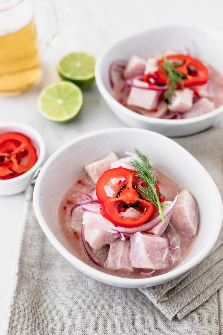 "The soul of the Peruvian Ceviche is the ""leche de tigre"" or ""tiger's milk"" which is the lime juice in which we cook the fish in. Peruvian Ceviche, Steak Dinner Sides, Ceviche Recipe, Summer Grilling Recipes, Peruvian Recipes, Mexican Food Recipes, Ethnic Recipes, Water Recipes, Pork Belly"