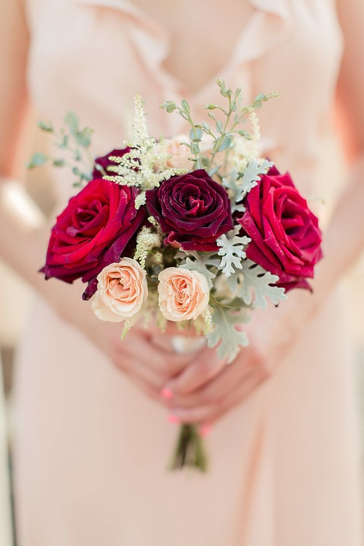 391 best wedding bridesmaid bouquets images on pinterest bridesmaid bouquet red maroon cream roses cream frilly dress luxe outdoor garden wedding in california http izmirmasajfo Gallery