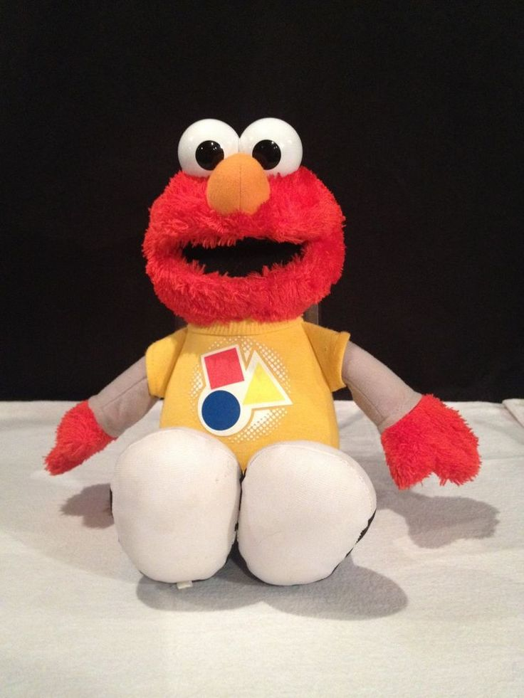 HASBRO SESAME STREET ROCKIN TALKING ELMO TEACHING SHAPES & COLORS PLUSH DOLL #HASBRO
