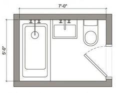Best 25 small bathroom floor plans ideas on pinterest for 6x7 walk in closet