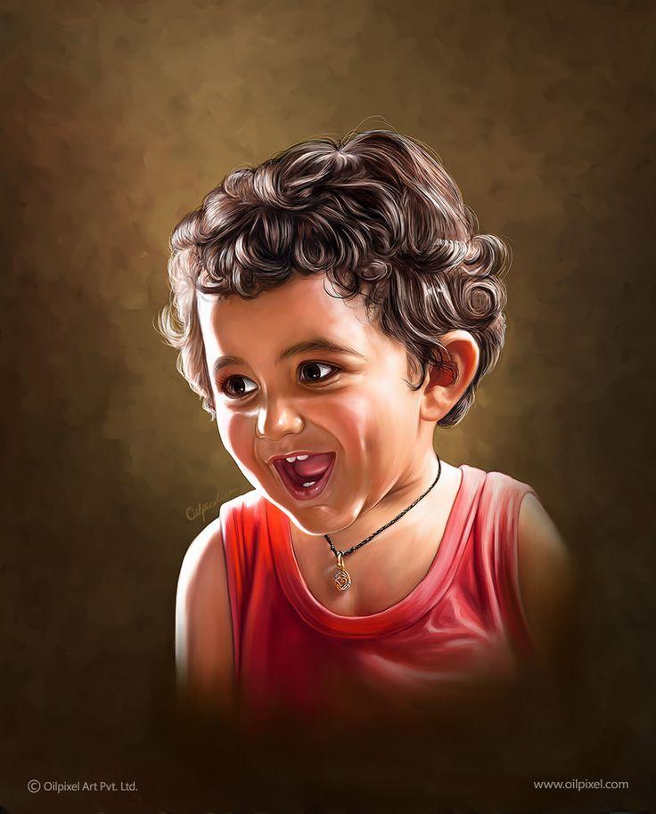 Digital Painting of Kid