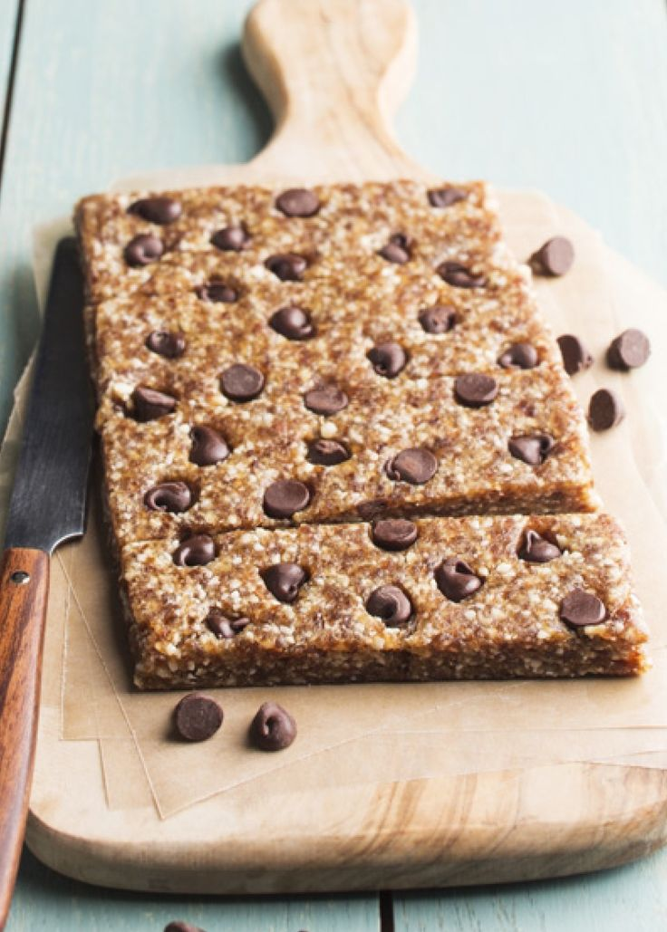 You don't have to feel guilty about eating raw cookie dough ever again with these egg-free squares loaded with nuts and pitted dates.                                                                                                              Get the recipe from Chocolate Covered Katie.    - Redbook.com