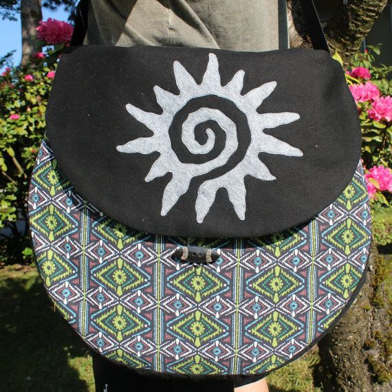 """PICK YOUR FABRIC sz Lg. (fits 18"""" drum) Padded Shamanic Drum Bag in cotton fabric"""