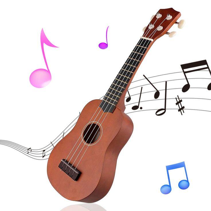21 인치 소프라노 우쿨렐레 빈티지 커피 로즈 우드 음향 소프라노 하와이 기타 Cuatro Uke 네 4 문자열 악기