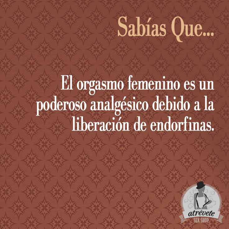 #Curiosidades #Sevilla #SabíasQue El orgasmo femenino es un poderoso analgésico debido a la liberación de endorfinas
