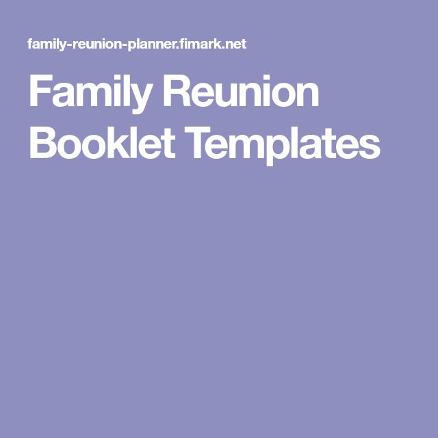 14 best Family Events Flyers images on Pinterest Banners - free printable family reunion templates