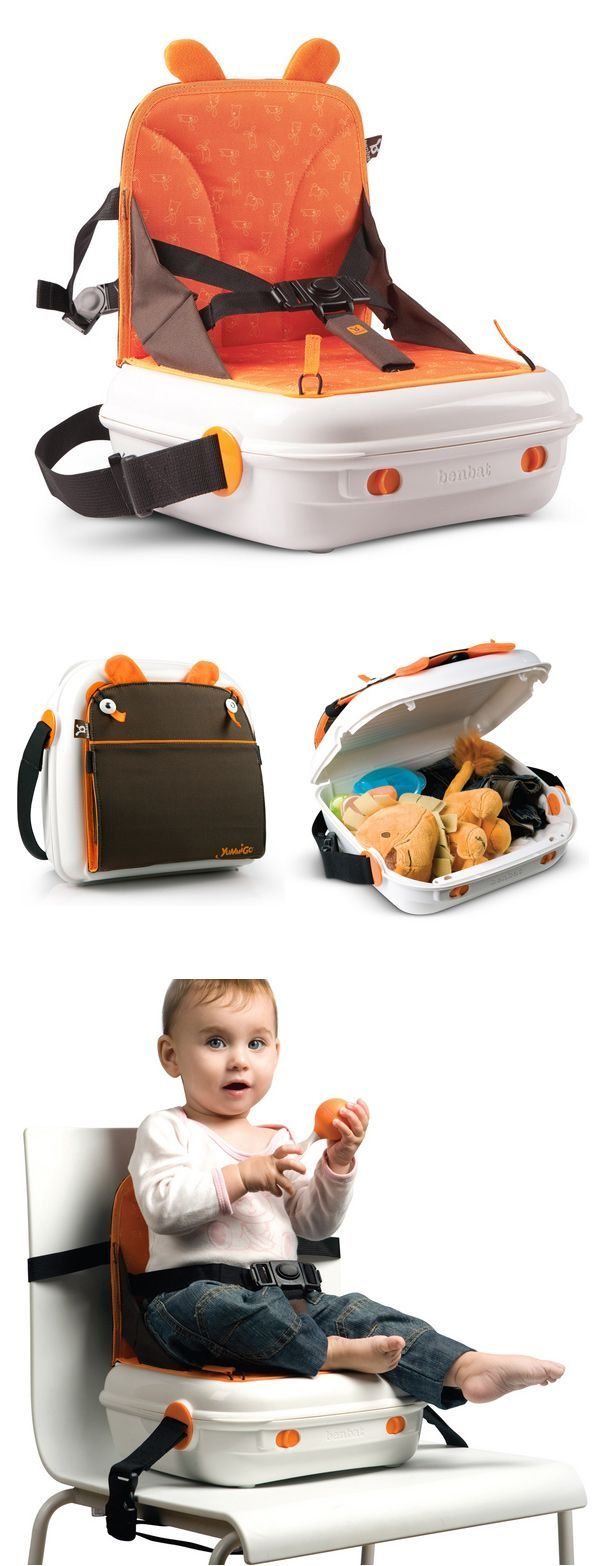 Pop Up Booster Seat - convenient carrying case with storage
