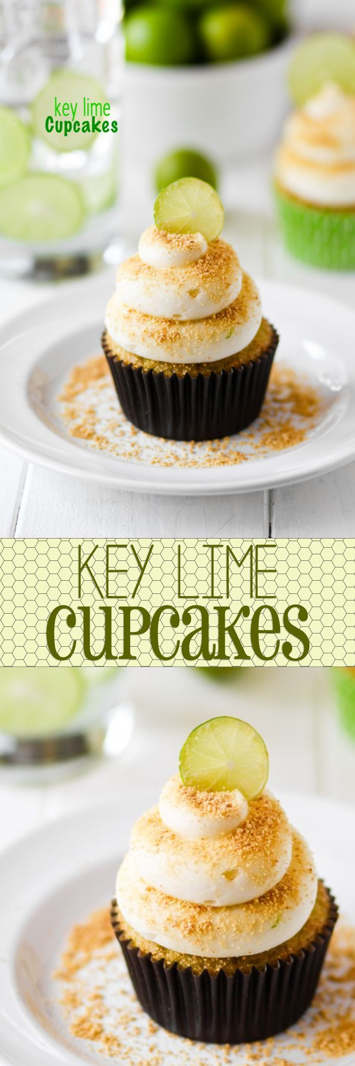 Key Lime Cupcakes!! These look like just the thing for my Spring craving!!