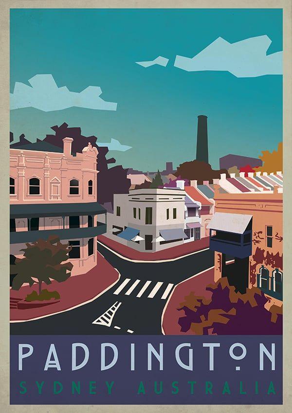 Paddington Sydney Australia Vintage Posters Vintage Poster Art Vintage Travel Posters