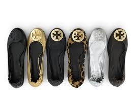 Comfort and fashion with Tory Burch ballet flats!