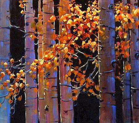 """Aspen,"" by Michael O'Toole 36 x 40 - acrylic"