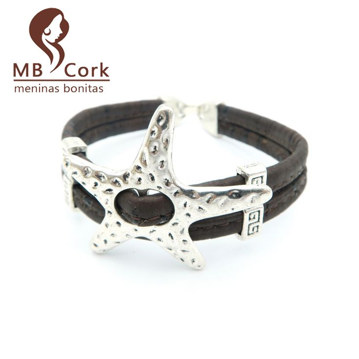 МБ Пробки морская звезда Морская звезда пробка браслет женщины Vintage браслет природные ручной vegan изделия Brithday Подарок Br-96