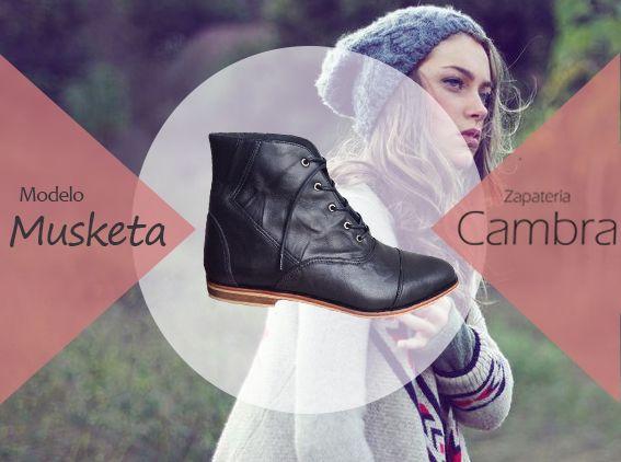 modelo Musketa 100% cuero http://zapateriacambra.cl/ contacto@zapateriacambra.cl