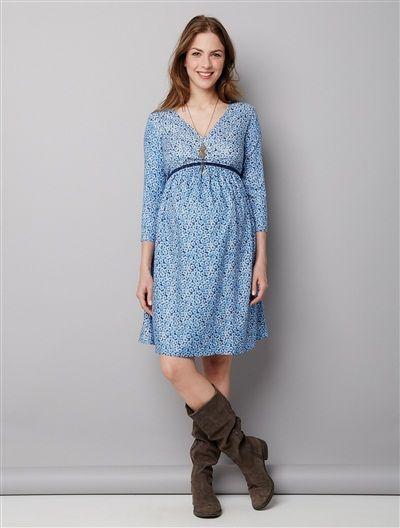 Robe de grossesse imprimée MARINE IMPRIME - vertbaudet enfant