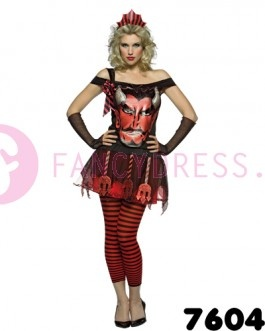 Deze duivels gezicht jurk is een kostuum uit onze Rasta-Imposta lijn.  De Rasta-Imposta lijn kenmerkt zich door een reeks hilarische kostuums en accessoires.  Enkele voorbeelden zijn alledaagse gebruiksvoorwerpen en Engelse gezegden vertaald in een kostuum.