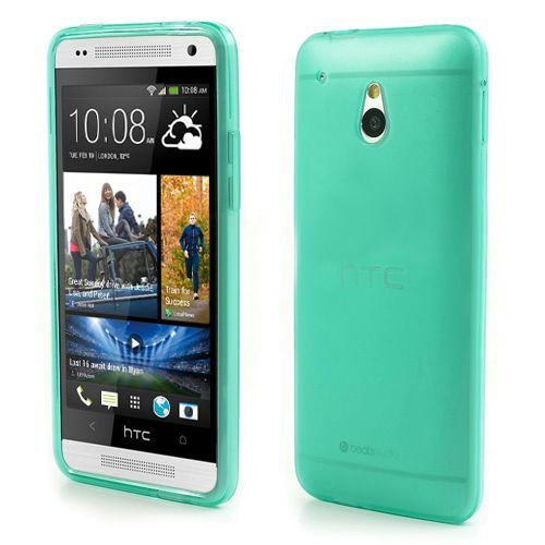Groen/transparant mat TPU hoesje voor de HTC One mini