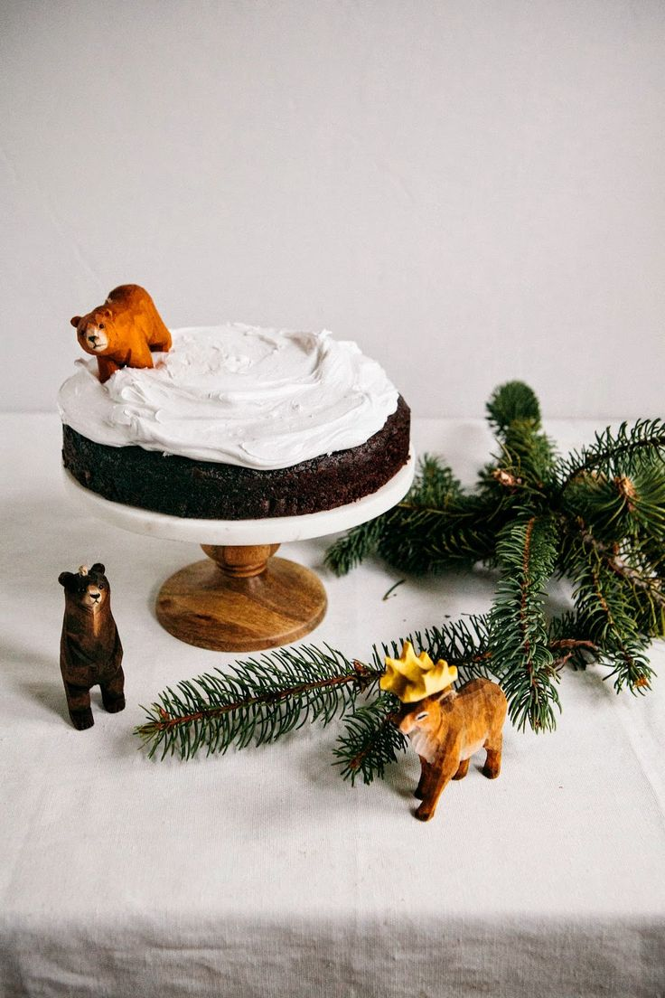 Hot Chocolate Cake with Marshmallow Fluff Frosting - hummingbird high
