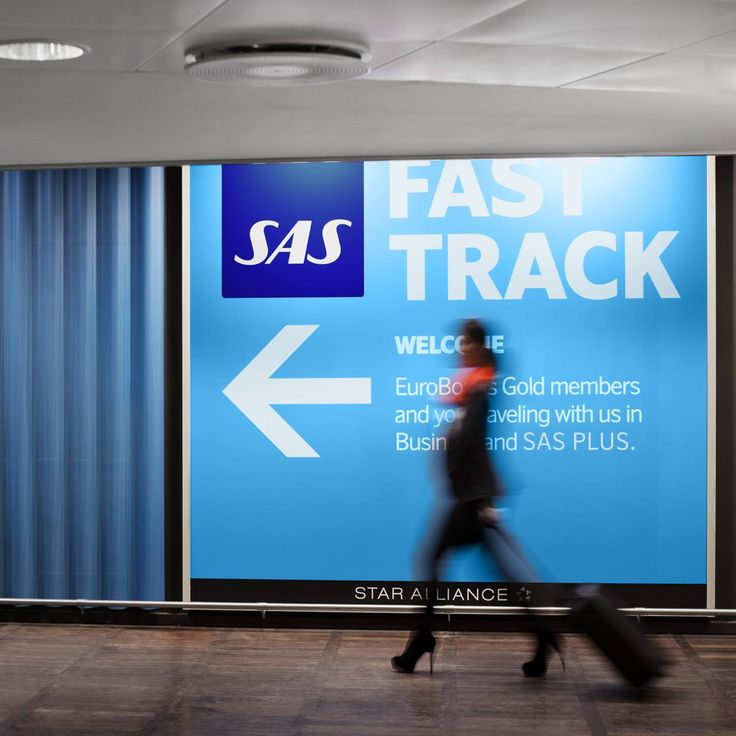 With SAS Plus and with EuroBouns Gold and Diamond you can use Fast Track and skip the line at security control.