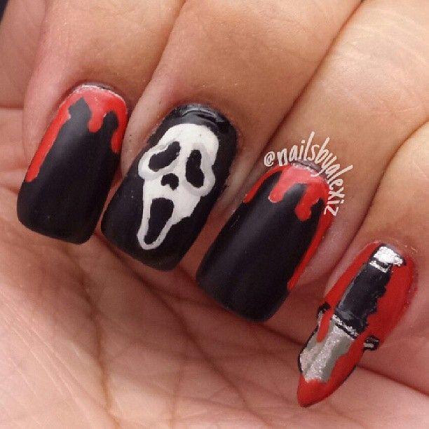 496 best Halloween Nail Art images on Pinterest | Halloween nail art ...