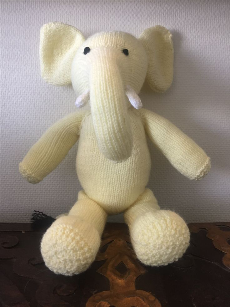 Elsie The Elephant  100% handmade, and so can be made in any colour. Created using beautifully soft yarn, perfect for delicate baby's skin. Hand washable and stuffed with hypoallergenic wadding. No small parts.