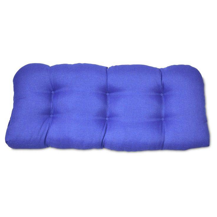 Tufted Settee Cushion - Cobalt - Threshold, Blue