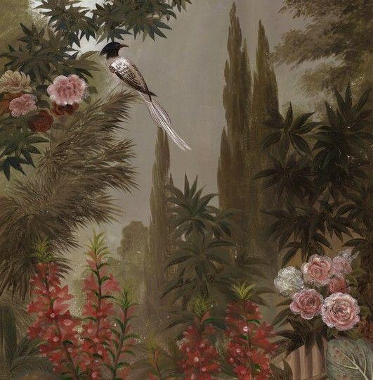 Paysages grisaille ou sépia - Le jardin à la Mandragore 180x250cm - Ultra mat
