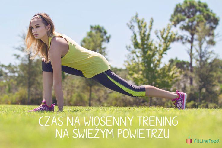 Czas na wiosenny trening na świeżym powietrzu. www.fitlinefood.com