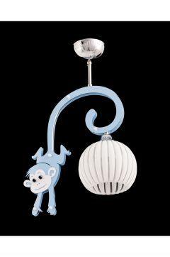 Sedef Avize 4210-1PBLUE Mavi Maymun Sarkıt