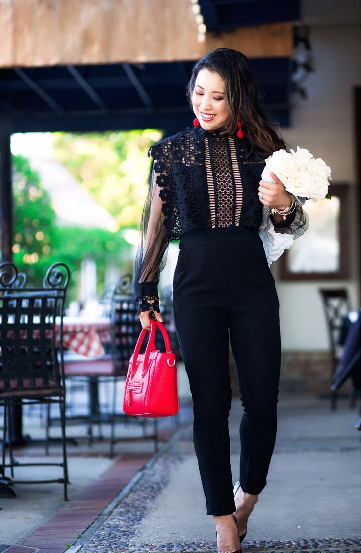 31ada64005 Black Lace Jumpsuit For Date Night