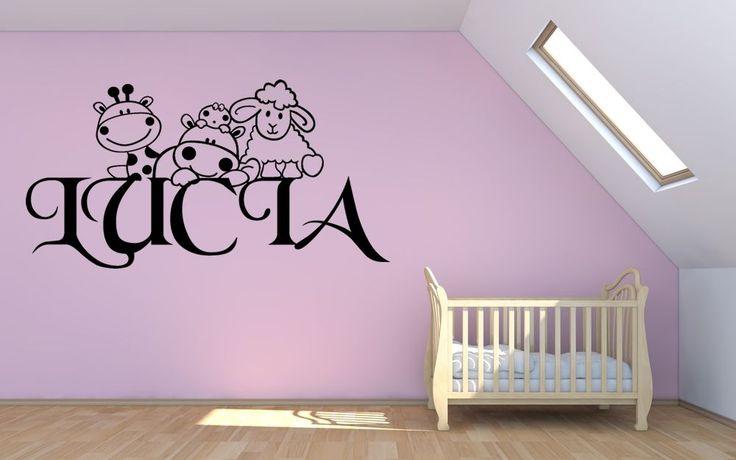 Vinilos nombre habitacion bebe buscar con google ideas for Vinilos para dormitorios de bebes