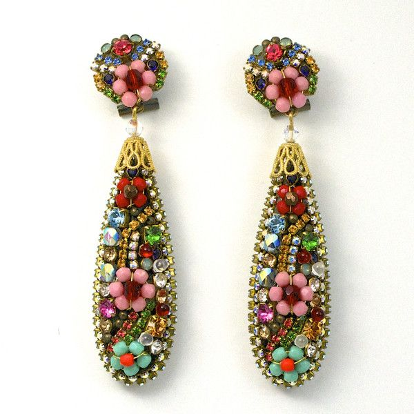 JJ Caprices - Colorful Teardrop Earrings by DUBLOS