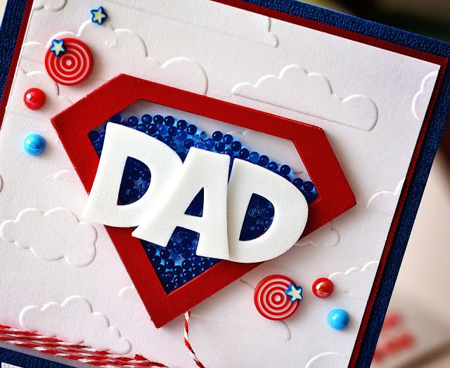 Ginger Williams: Easy Cricut Super Hero Father's Day Shakers Cards for Queen and Company