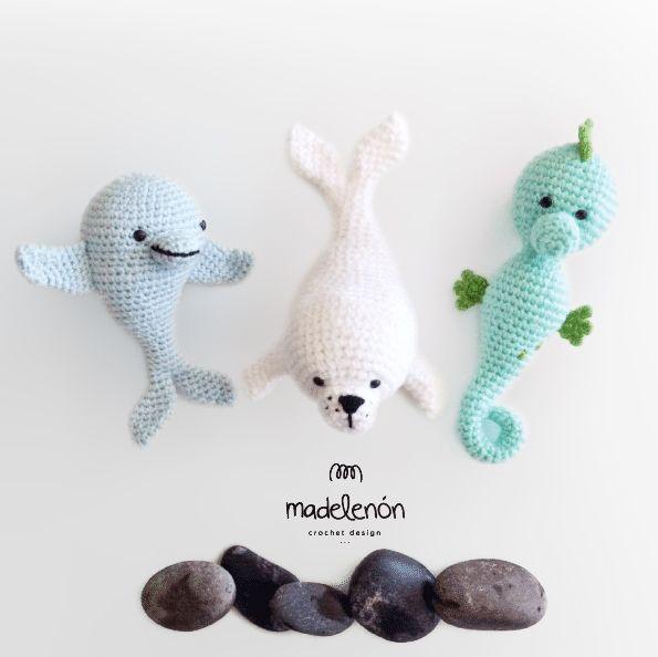 Crochet Sea Life Amigurumi : My sea amigurumi pattern by Madelenon Dolphins, Patterns ...