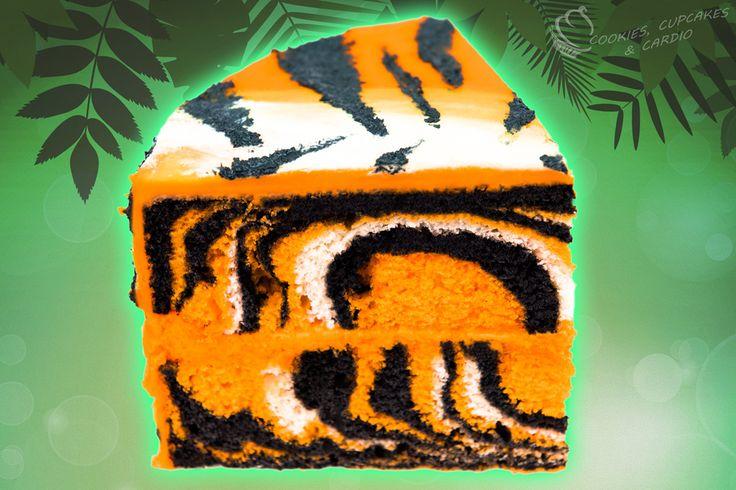 How Do You Tiger Stripe Inside Of Cake