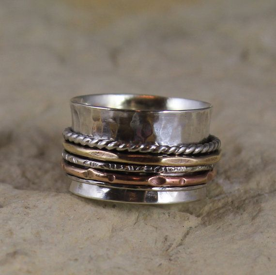 """Use Coupon Code """"HolidayDeal"""" at checkout for 15 % off  - Low Profile Spinner Ring"""