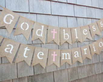 First Communion Banner Custom Personalized by IchabodsImagination