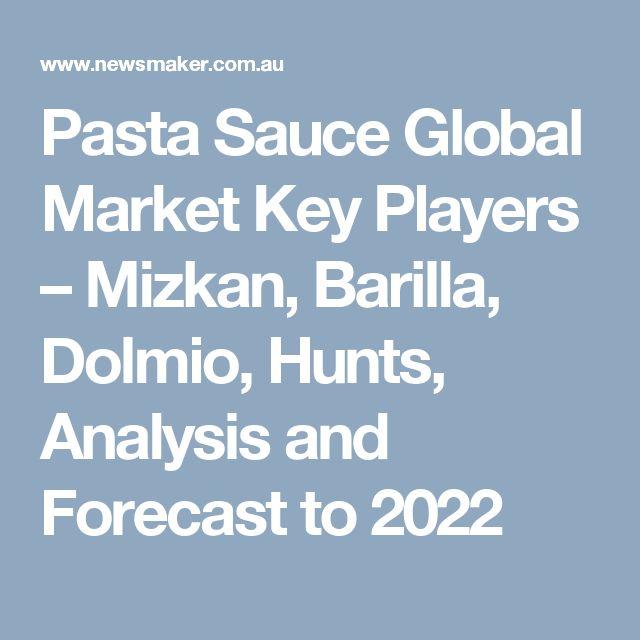 Pasta Sauce Global Market Key Players – Mizkan, Barilla, Dolmio, Hunts, Analysis and Forecast to 2022