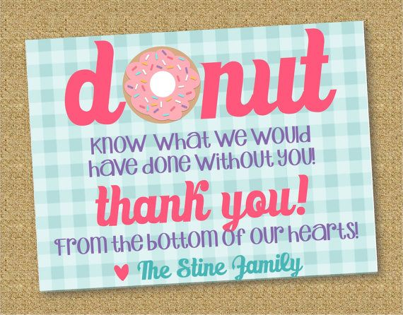 Printable THANK YOU for labor and delivery by CoCoStineDesigns, $12.00