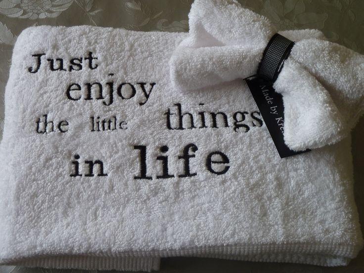 ~ Handdoek Met Tekst Cadeau