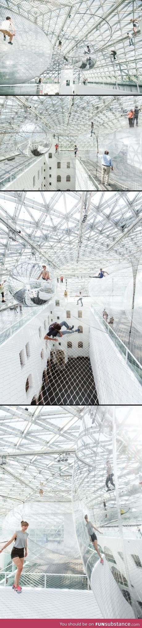 Playground for adults in germany Nets and Big sitting bubbles