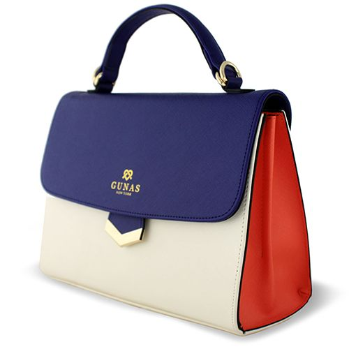High-end vegan handbags: Gunas Flamingo in Navy